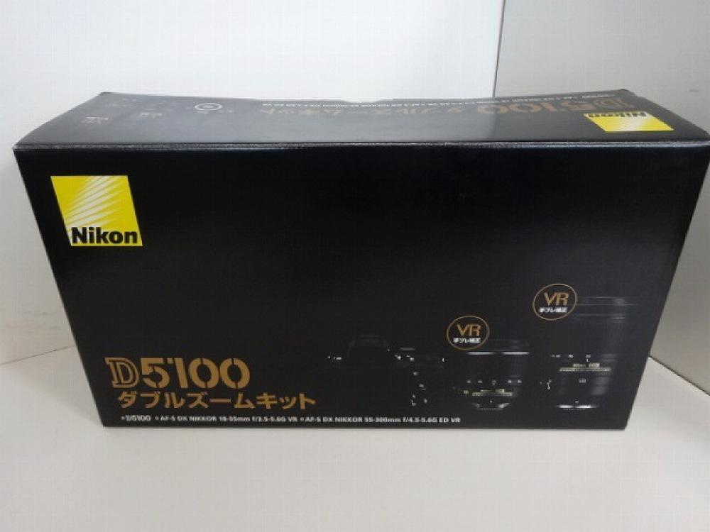 Nikon デジタル一眼レフカメラ D5100 ダブルズームキット 望遠・標準 映像機器  長野県安曇野市 家電買取