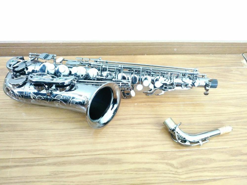 島村楽器 Festi アルトサックス A1800BB シルバー 手掘り彫刻 長野県松本市 楽器買取 写真2