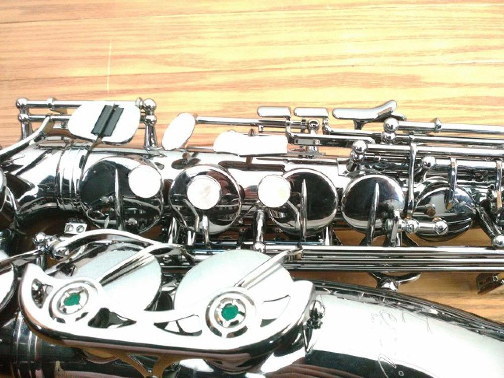 島村楽器 Festi アルトサックス A1800BB シルバー 手掘り彫刻 長野県松本市 楽器買取 写真6