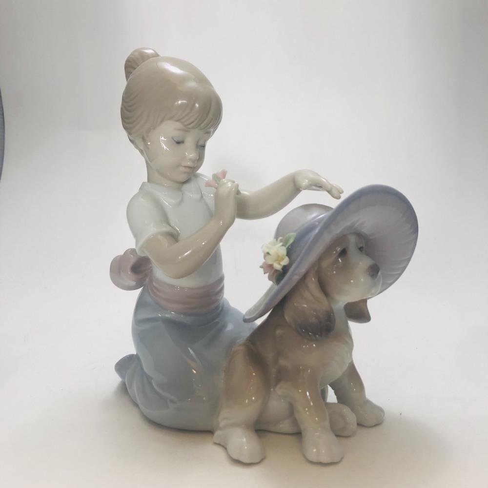 LLADRO おめかししようね 置物 長野県松本市 陶器人形買取