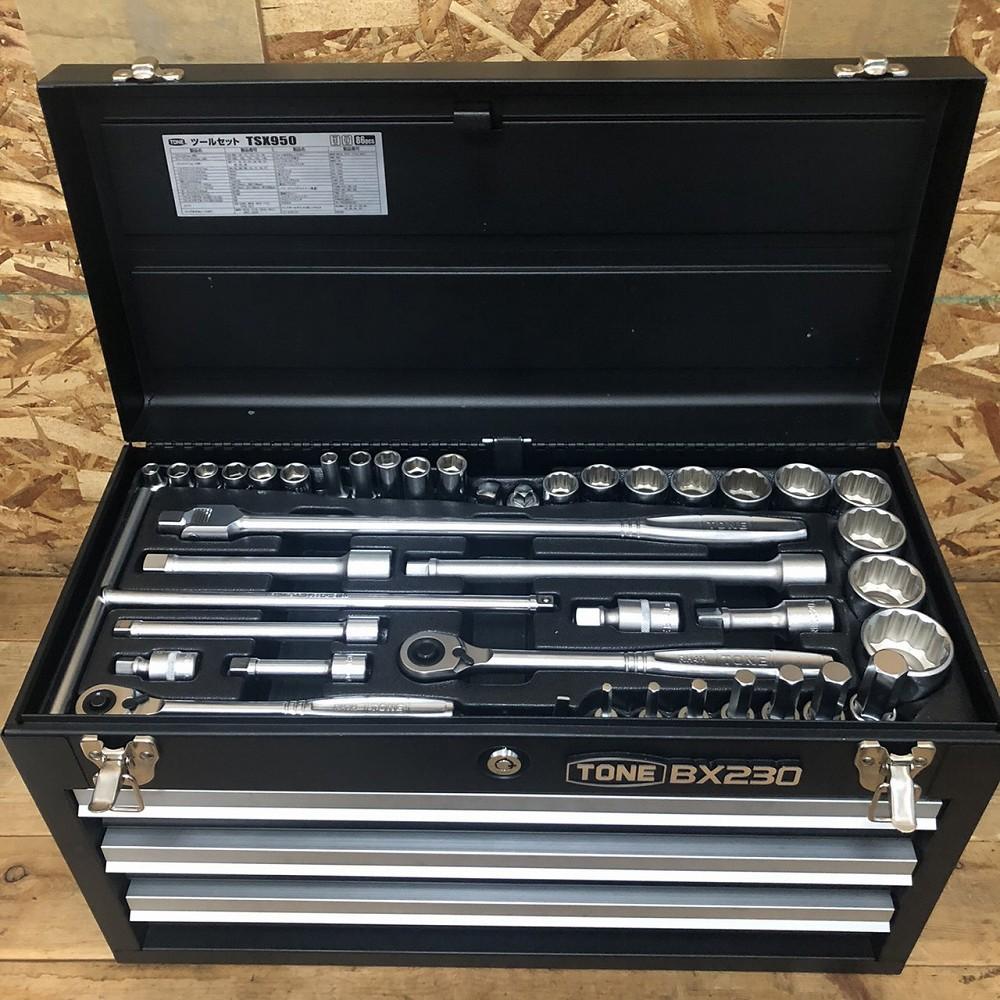 松本市 工具買取 | トネ ツールセット TSX950 86点セット 工具箱