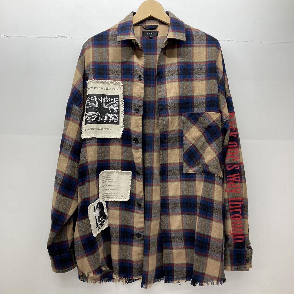 安曇野市 古着買取   RE730 フリンジ チェックシャツ 写真3