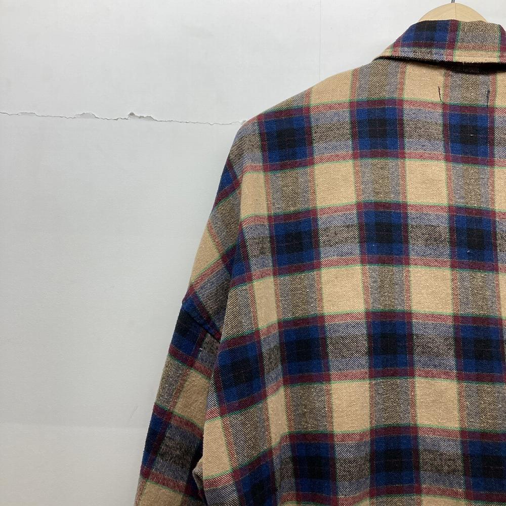 安曇野市 古着買取   RE730 フリンジ チェックシャツ 写真8