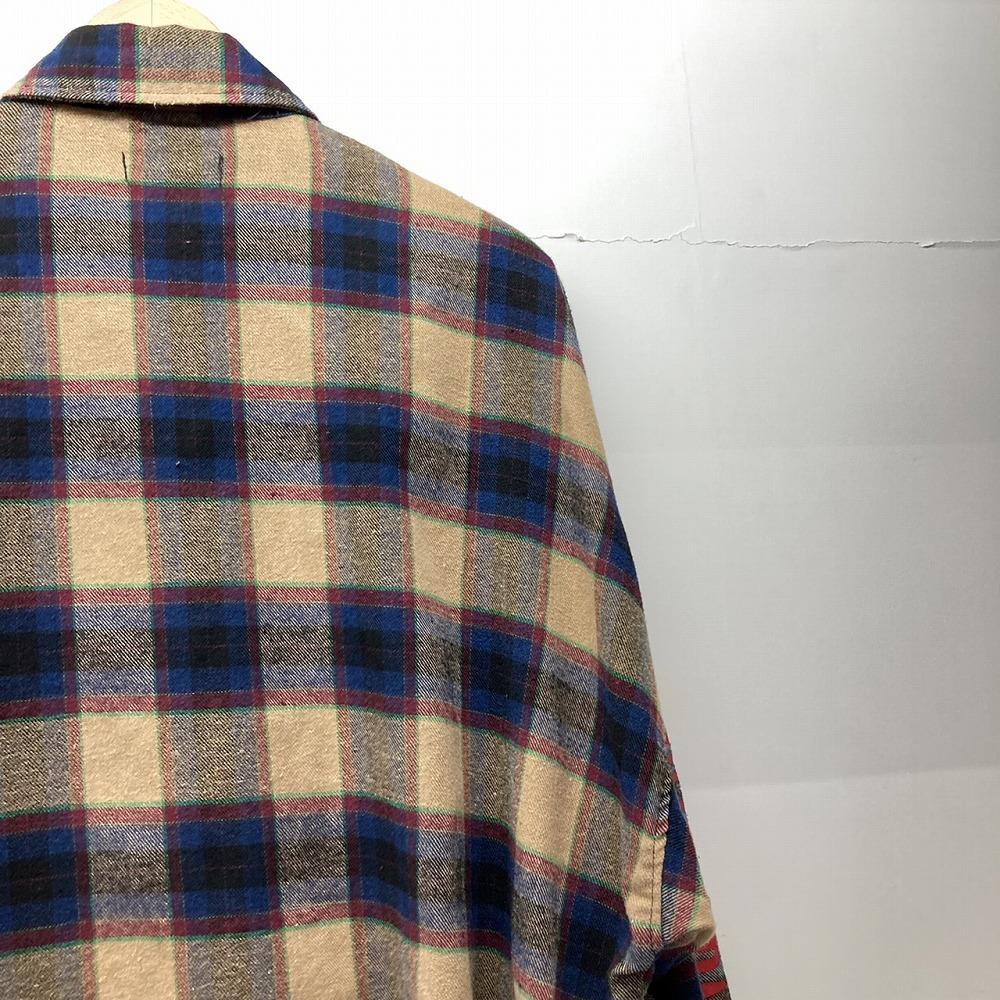 安曇野市 古着買取   RE730 フリンジ チェックシャツ 写真9