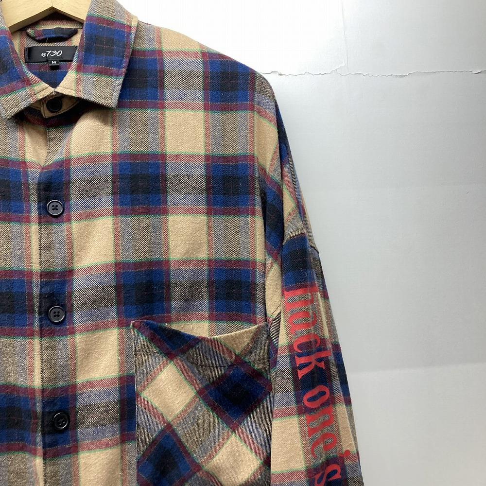 安曇野市 古着買取   RE730 フリンジ チェックシャツ 写真5