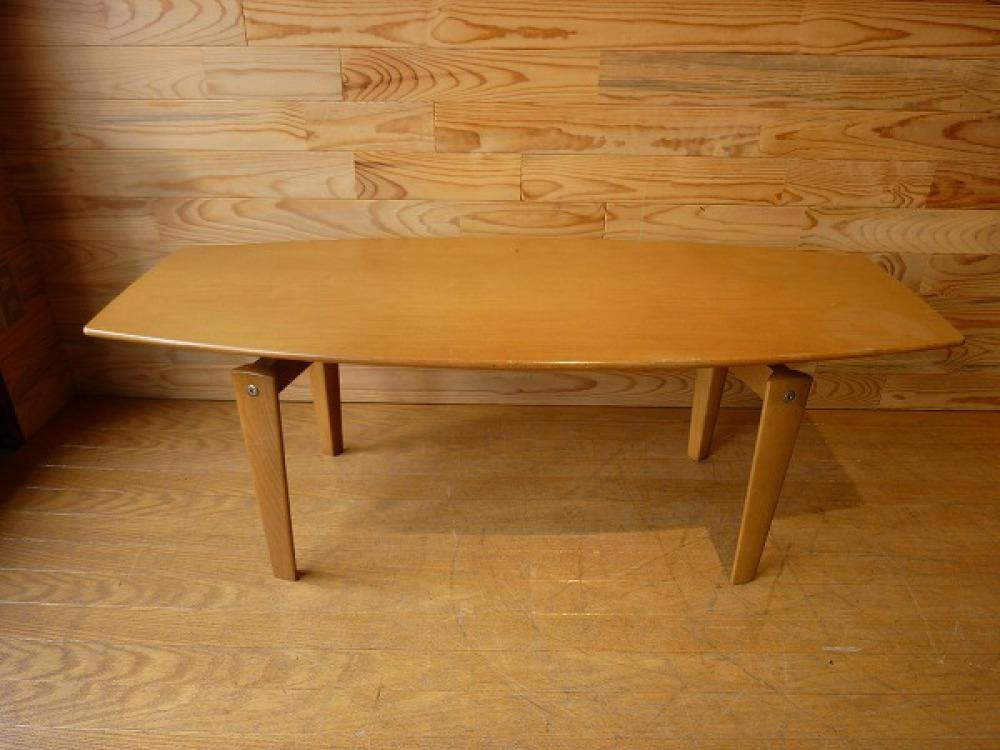 karimoku カリモク センターテーブル オーバル形状 出張買取 | 長野県松安曇野市