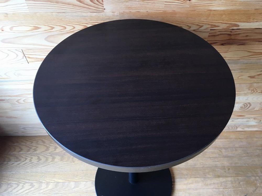 バーテーブル ハイテーブル カウンター 丸形天板 モダン カフェ 立ち飲み 出張買取 | 長野県飯田市 写真2