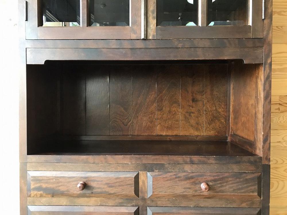 民芸家具 食器棚 キャビネット ミズメ桜 リビングボード ダイニングボード 出張買取 | 長野県塩尻市 写真5