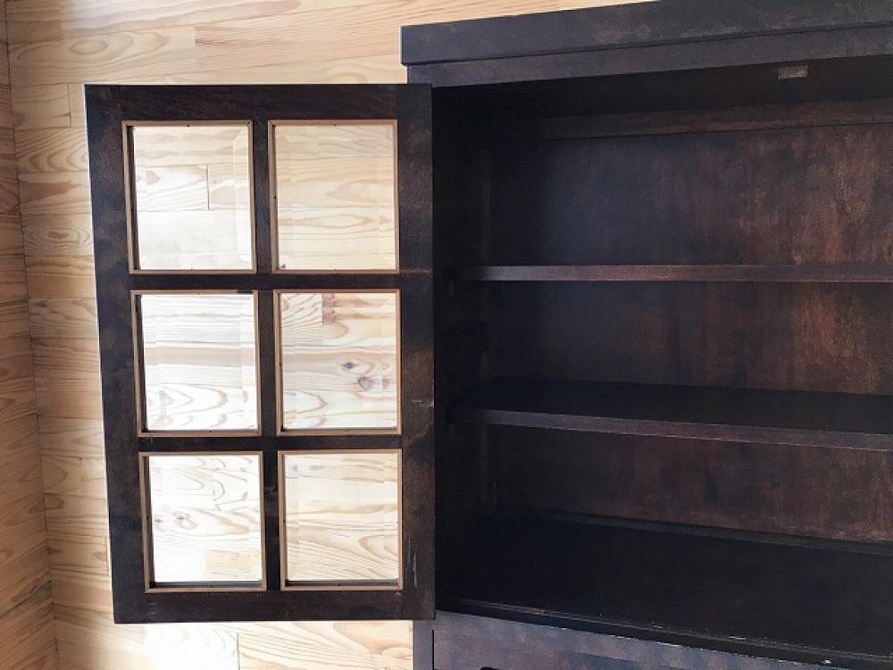 民芸家具 食器棚 キャビネット ミズメ桜 リビングボード ダイニングボード 出張買取 | 長野県塩尻市 写真9