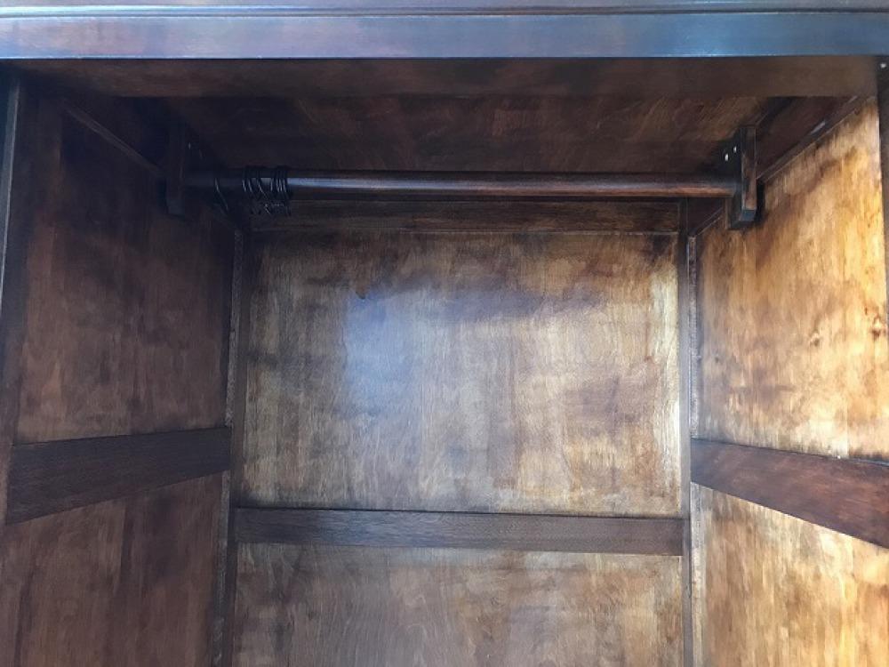 民芸家具 ワードローブ クローゼット 洋タンス ミズメ桜 スリム 衣類収納 引き出し 出張買取 | 長野県安曇野市 写真10