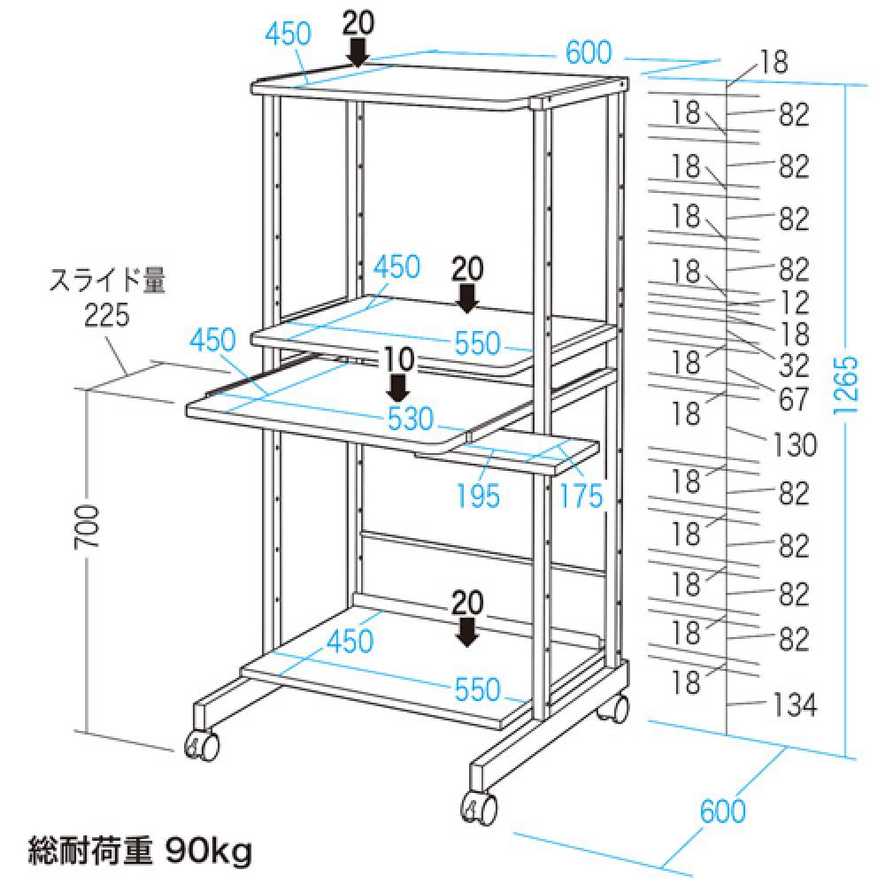 未使用未開封 SANWA サンワプライ パソコンラック PCデスク RAC-EC15 店頭買取 | 長野県松本市 写真2
