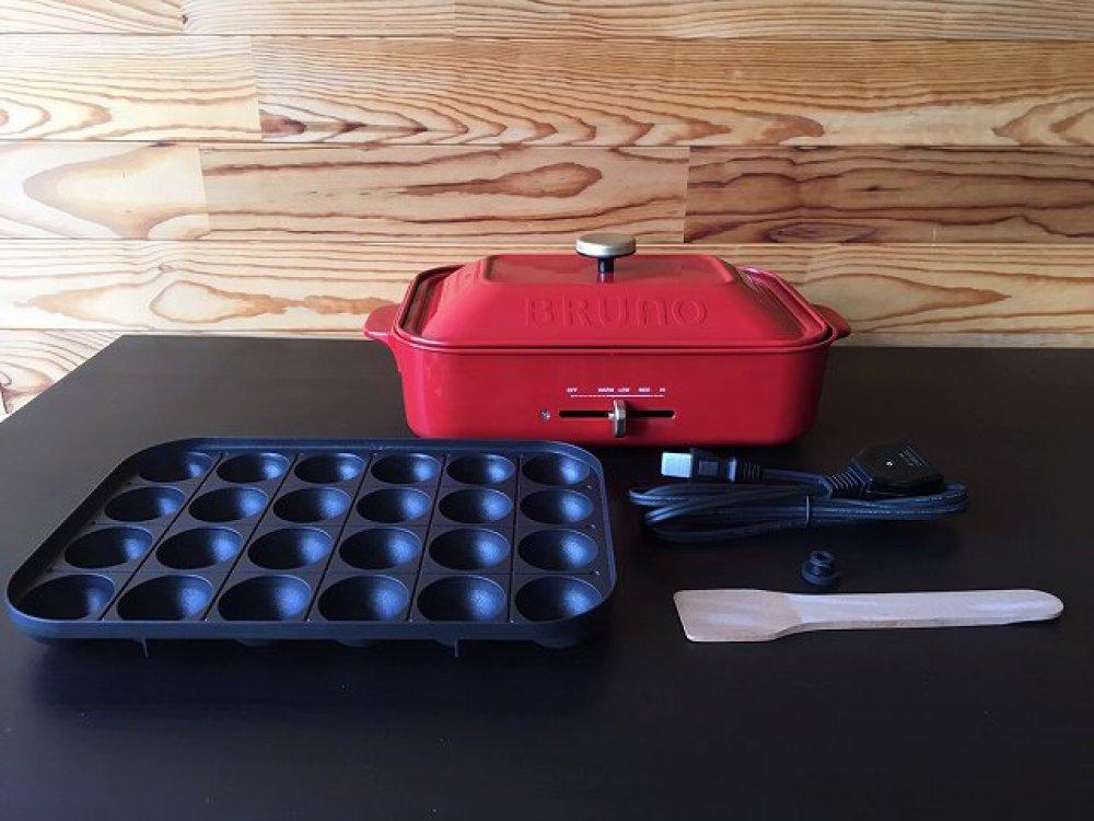BRUNO ブルーノ コンパクトホットプレート BOE021 レッド たこ焼きプレート 店頭買取   長野県松本市