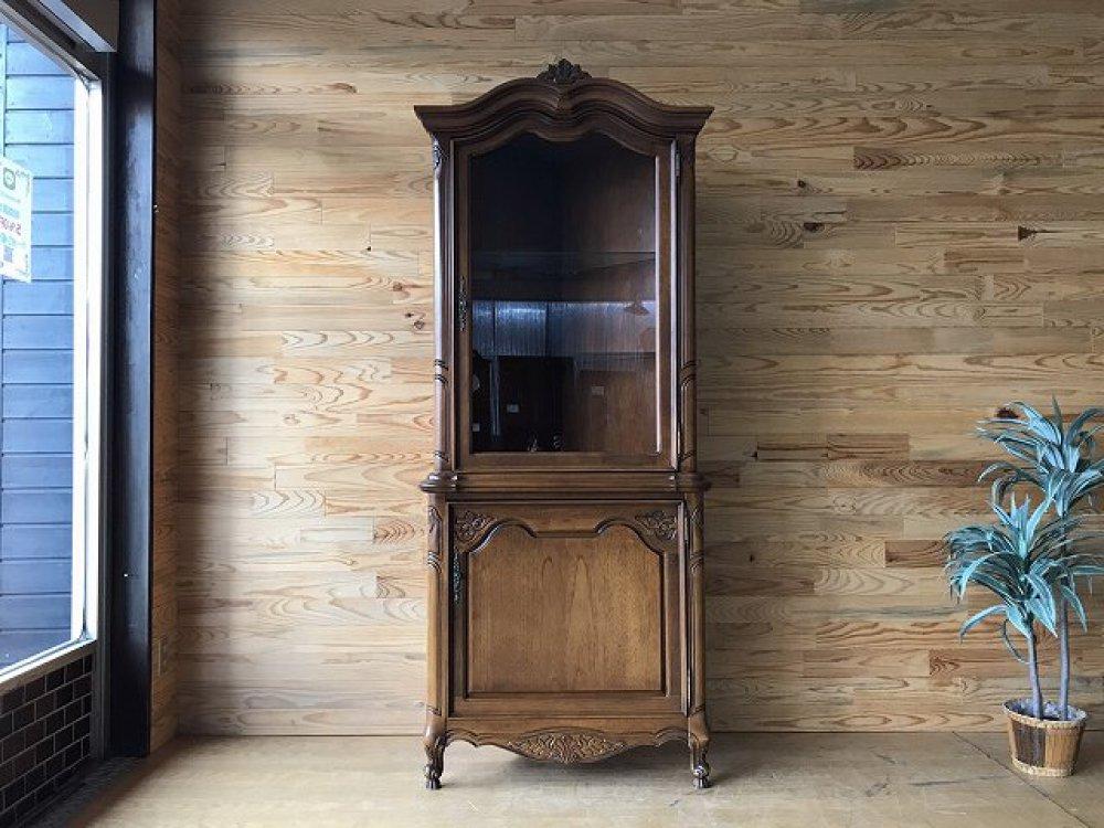 コーナーキャビネット 飾り棚 ヨーロピアンデザイン ガラス戸 収納 出張買取 | 長野県安曇野市