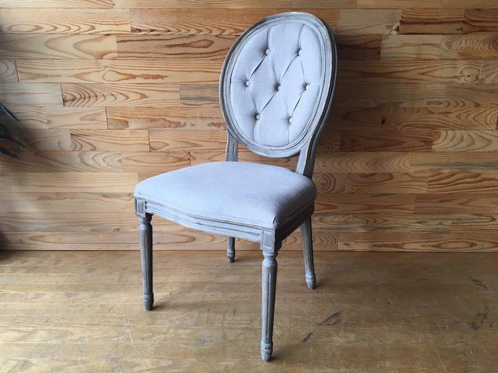ヨーロピアン ダイニングチェア 椅子 アンティーク調 シャビーデザイン ボタン留め 出張買取 | 長野県上田市
