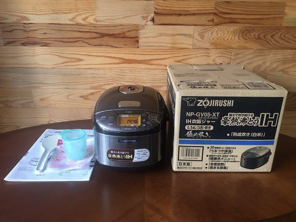 ZOJIRUSHI 象印 2019年製 NP-GV05-XT IH炊飯ジャー 極め炊き 3合 店頭買取 | 長野県松本市