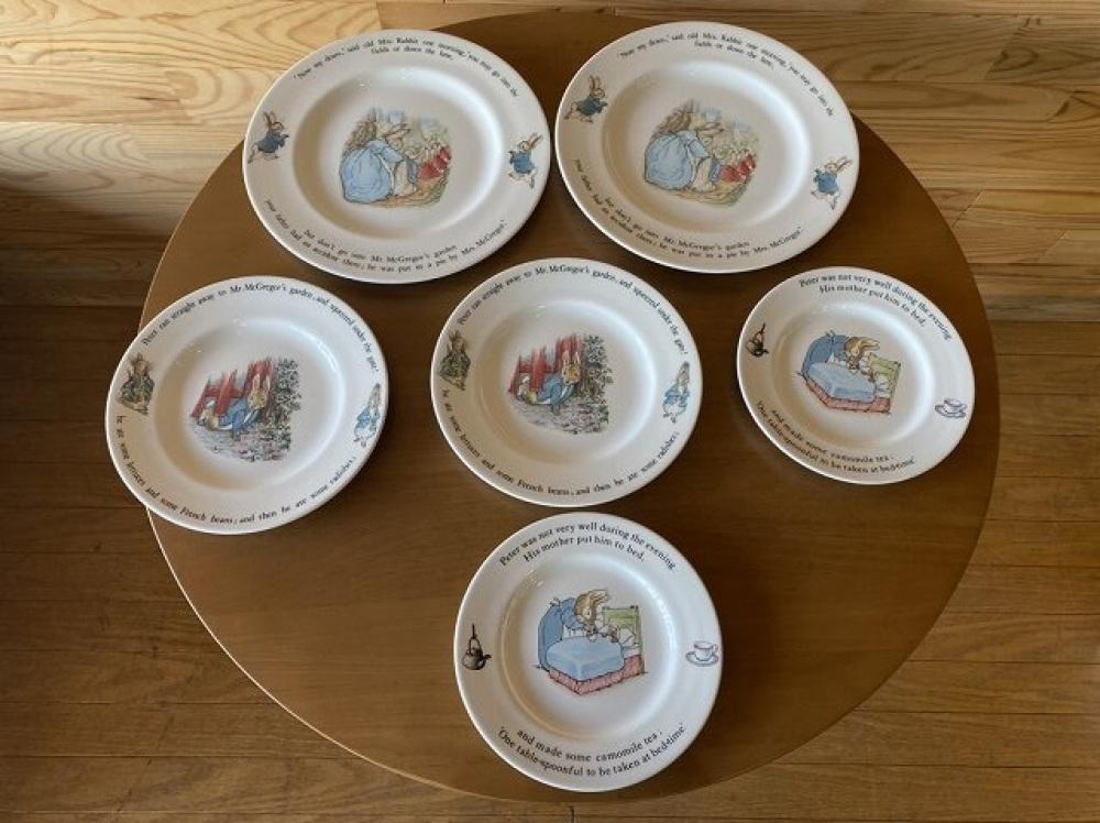 WEDGWOOD ウェッジウッド ピーターラビット お皿 6点セット ブランド食器買取 | 長野県松本市