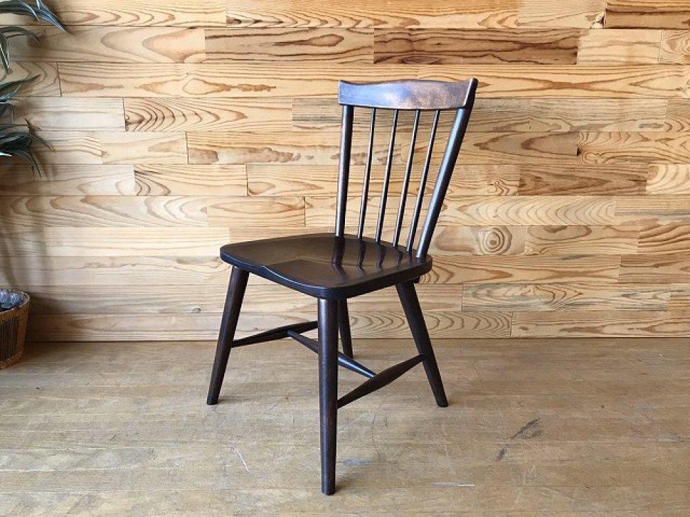 松本民芸家具 ♯55型スピンドルチェア 食卓椅子 ミズメ桜 ダイニング 刻印有 廃盤モデル 出張買取 | 長野県安曇野市