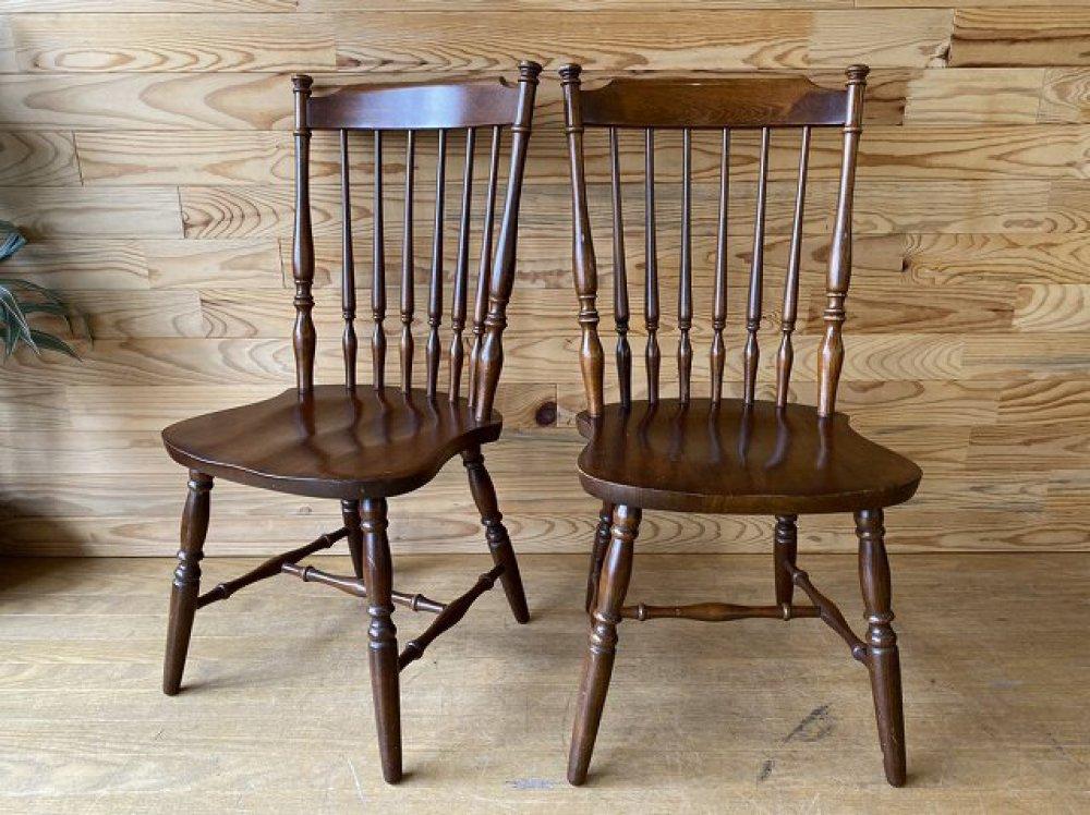 飛騨の家具 WINDS 太平 ウィンザーチェア 2脚セット ダイニングチェア 椅子 ヴィンテージ カントリー 出張買取 | 長野県伊那市