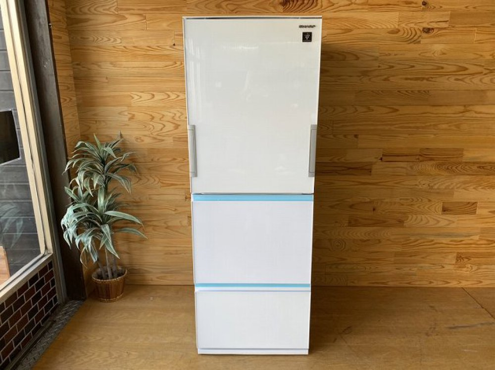 SHARP シャープ 3ドア冷凍冷蔵庫 SJ-GE36E-W 356L 出張買取   長野県塩尻市